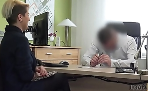 LOAN4K. Loan manager is ready to help girl right after sexual action