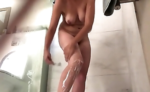 Hot wife caught in shower on real hidden spy cam