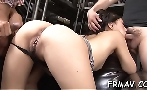 Cute japanese sweetheart has a lusty fetish for cock sucking