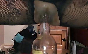 Homemade Girlfriend - Dirty British Milf Filmed Closeup on My i-phone, Squatting on a Telling Bottle Deep up Her Dirty Arse Gap - II