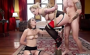 Head butler anal bangs two slaves