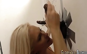 Blondie sucks black dick