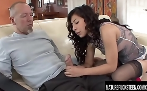 Perfect Latina Teen Nicole Ferrera Gets Naughty with an Old Guy