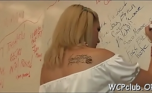 Excited white girl gets holes screwed so well by ebony gangsta