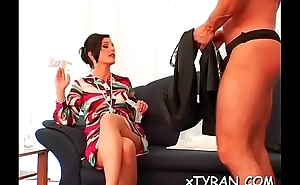 Mistress humiliates dude during sexually excited femdom fetish act