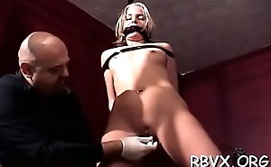 Whore gets her pussy eaten out whilst being strapped