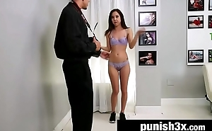 Shy Cutie Bound &amp_ Fucked Doggystyle On a Casting Couch - Mila Penetrate
