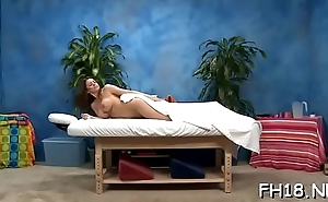 Teen with a soaked ass gets nailed during a massage