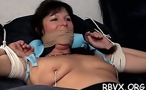 Hot blindfolded youngster experiences 1st thraldom punishment