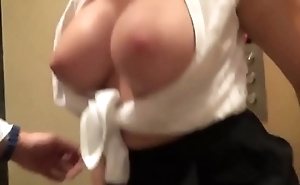 stunning german milf with big tits gets fucked in elevator
