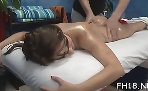 Beautiful drilled hard by her massagist