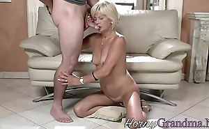 Kinky old pensioner sucks
