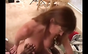 Black man hammers White woman Milf with bbc