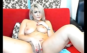 Blonde Big-Tits Astonishing Masturbate on Cam