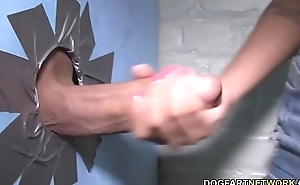 Ebony Amia Miley Tries Big Dick At A Gloryhole
